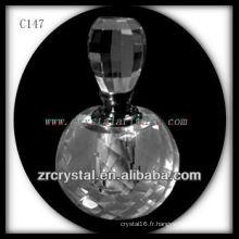 Belle bouteille de parfum en cristal C147