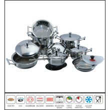 16 PCS Stainless Steel Camping Cookware Set