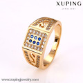 12617 Xuping Fashion18k chapado en oro anillo de joyería de moda anillo clásico de los hombres anillo de boda anillo de boda de la joyería