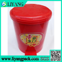 Happy Life Theme, Heat Transfer Film for Trash Bin