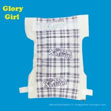 Fabricants de couche-culotte de feuille supérieure de coton respirable de porcelaine