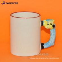 Caneca cerâmica promocional para sublimação com animal mão feita na china