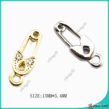 Accesorios de joyería Gold Tone Pin Charm