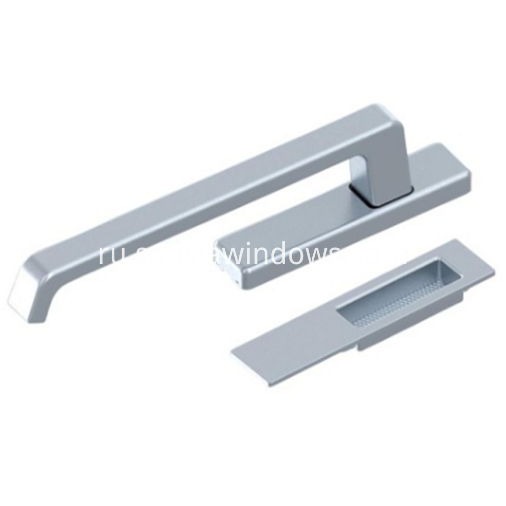 Box of Handles for Lift and Slide Door, handles for lift and slide Door, Lift and Slide Door System Silver Color