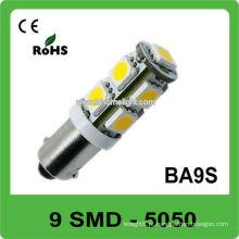 CE & ROHS aprovou 9 SMD 5050 Ba9S auto levou 12V bulbo