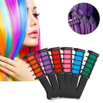 Beleza temporária cabelo pente tintura de giz de cabelo não-tóxico