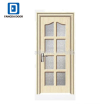Fangda cheap pvc coated MDF door with glass