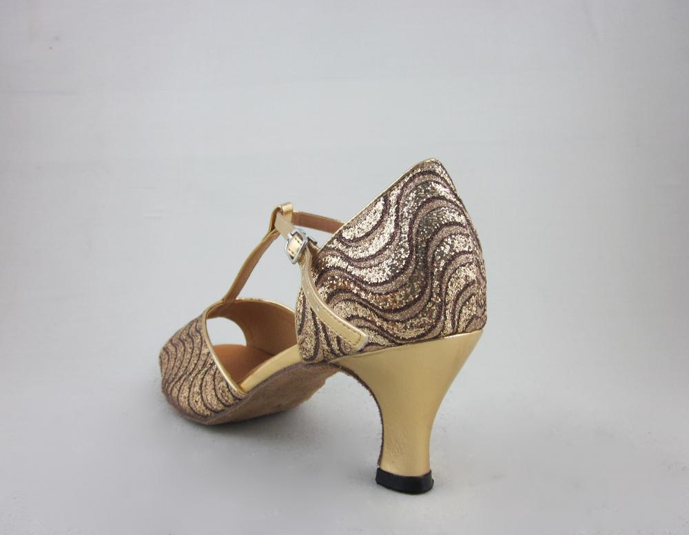 Girls Gold Latin Dance Shoes