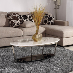 new design stainless steel and marble table