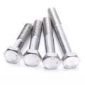 Boulons hexagonaux en acier inoxydable 304 316 DIN931 DIN933