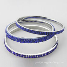 New Arrival crystal bangles, high quality blue crystal bangles for women