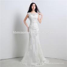 2016 nuevas mujeres del vestido del vestido de bola del hombro del tamaño extra grande del hombro que se casan con longitud del piso