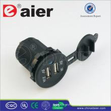 Daier Dual USB Chargeur de voiture 5V 1A USB Socket