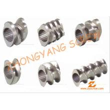 Barril de tornillo de segmento para granulación de PVC de doble tornillo