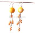 Pendientes largos estilo perla fresca de Bohemia Fashion