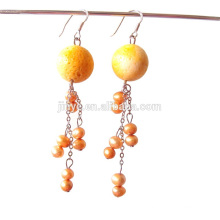 Fashion Bohemian Style Fresh Pearl Dangle Earrings