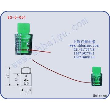 selo plástico medidor BG-Q-001