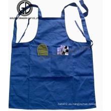 Delantal personalizado del artista de la cocina del algodón de la calidad con el bolsillo