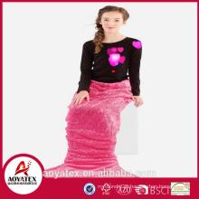 2018 novo design moda bonito flanela fleece sereia cauda cobertor