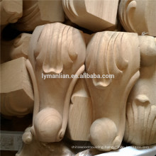 Furniture parts carving wooden table leg