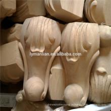 Peças de mobiliário para esculpir perna de mesa de madeira