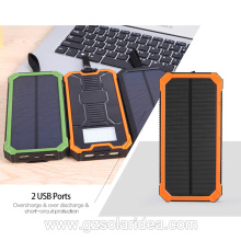 Mobile 15000mAh Portable Battery Charger Solar Panel