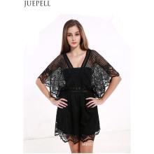 Summer nouvelles femmes Explosion modèles Sexy Lace Stitching Hollow Halter Jumpsuit Dress