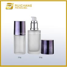 Bouteille en verre cosmétique avec pompe Lotion