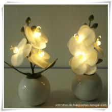 Künstliche Blumen 3PCS Orchidee LED mit Keramik-Topf für Förderung