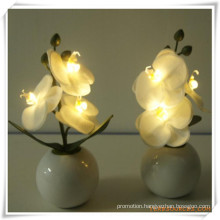 3PCS Orchid LED Artificial Flowers with Ceramics Pot for Promotion