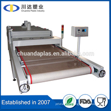 China hot sale Customized Heat resistance PTFE Teflon coated fiberglass open mesh conveyor belt
