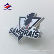 Newest crafts nickel plating award Japanese warrior badge