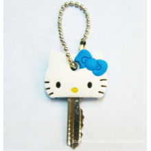 Hello Kitty Silicone Key Cover, Promotional Silicone Cute Key Cap With Customized Logo