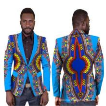 ethnic tribal vibrant colors slim fit blazer flora printed African clothing Dashiki 100% cotton jawa wax men Jacket suits coat
