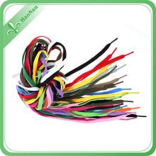 Lacet d'impression de logo de polyester de bonne qualité coloré avec l'agrafe