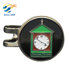 Personifiziertes Logo-Metall kundengebundener Magnet-Golfball-Markierungs-magnetischer Golf-Hut-Klipp