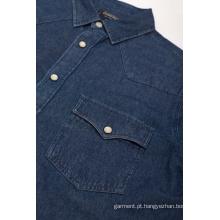 Moda jeans barata de manga longa masculina