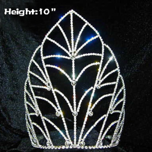 10in Height Crystal Pageant Crowns