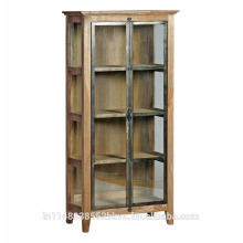 Metal and Wooden Modern Rustic Bookcase