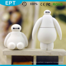 Customized Logo PVC Baymax Shape USB Pendrive (PVC-11)