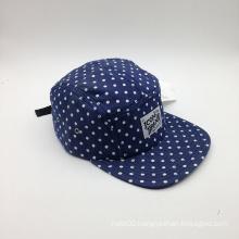 Sandwich Custom 100% Cotton Patch DOT Denim Blue Cap (ACEK0088)