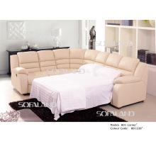 Современный кожаный угловой диван-кровать 801 #