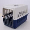 La ligne aérienne en plastique de cage de transporteur d'animal familier de chien de vol d'aviation a approuvé