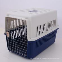 Linha aérea plástica da gaiola de portador do animal de estimação do cão do curso do voo da aviação aprovada