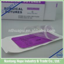 aguja de sutura curva estéril con hilo