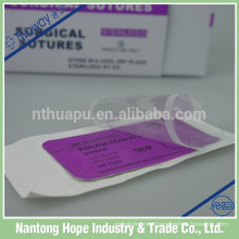 sterile curved suture needle with thread