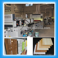 Línea de revestimiento UV para paneles de melamina / chapa / Piso de parquet de madera Línea de pintura UV