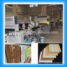 Ligne de revêtement UV pour panneaux / placages en mélamine / Parquet en bois Ligne de peinture UV