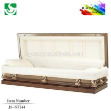JS-ST244 wholesale best price adult steel caskets