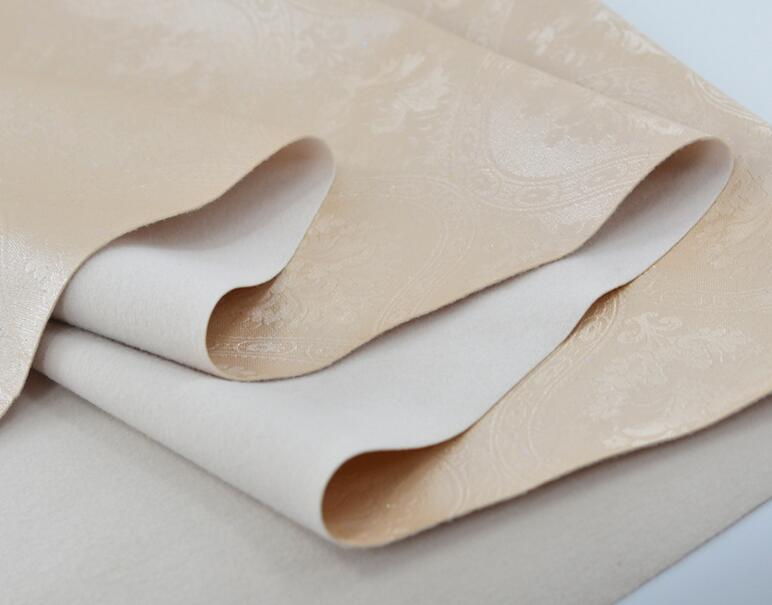 beige-Classic semi-PU decorative leather for background wall and package